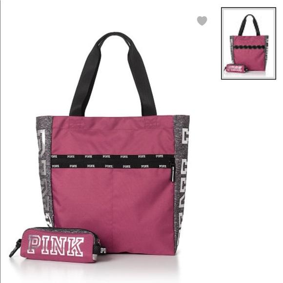 New Victoria s Secret PINK Tote Bag   Tech Pouch dbd3ab577d108